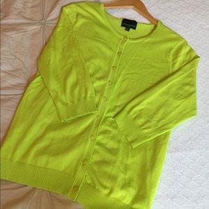Lime Green Cynthia Rowley cardigan